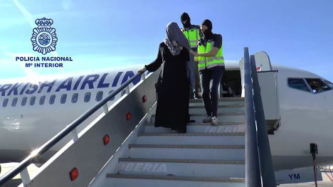 Police detain female suspected Isis member at Spanish airport