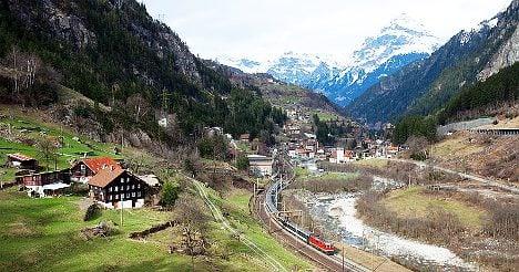 Rockfall disrupts trains on Gotthard rail line