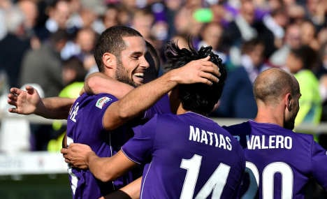 Fiorentina back on top of Serie A
