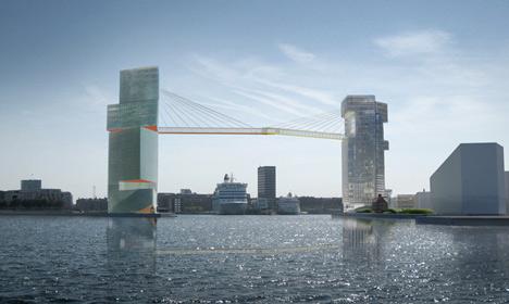New Copenhagen cycle bridge 65m above water