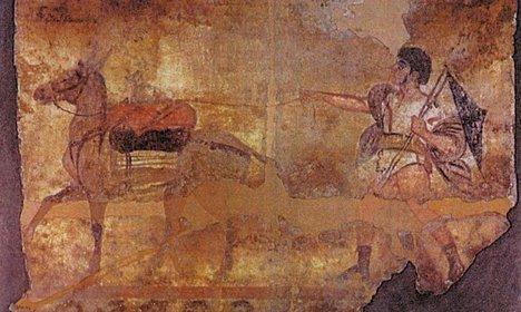 Italy showcases stolen pre-Roman frescoes