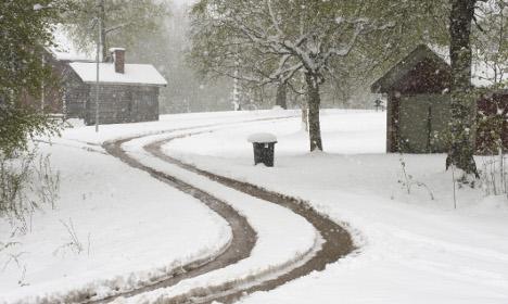 Heavy snowfall heading towards western Sweden