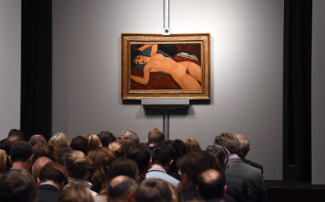 Modigliani nude sells for record-breaking $170.4m