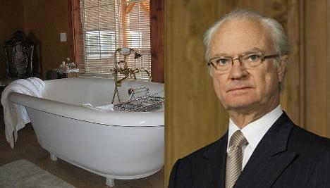Swedish king calls for ban on bathtubs