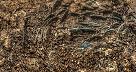 Farmer finds trove of Roman coins in orchard