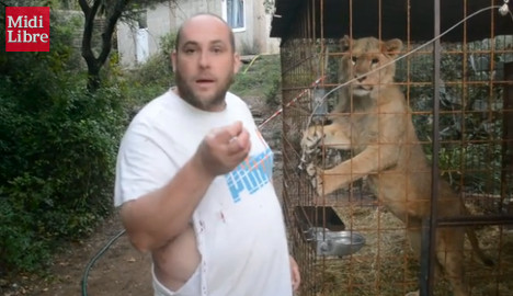 Frenchman fights to keep his 'placid' garden lion