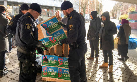 Winter chill pulls plug on Roma protest in Malmö
