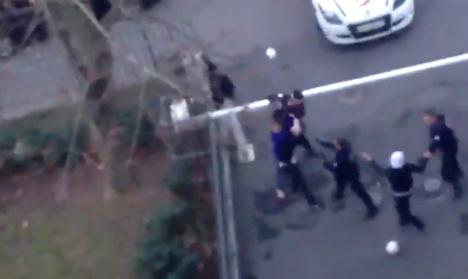 VIDEO: Police filmed beating Paris mother