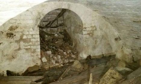 Historic child grave dug up at Swedish church