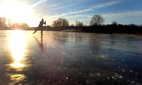 Skater survives plunge as rescuer has stroke