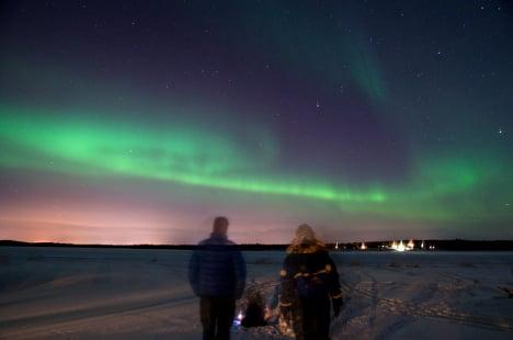 Ice magic at north Sweden island lodges