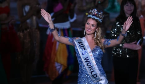Spanish beauty queen claims crown at Miss World pageant in China