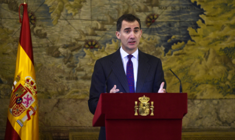 Spain's King Felipe VI appeals for national unity after elections