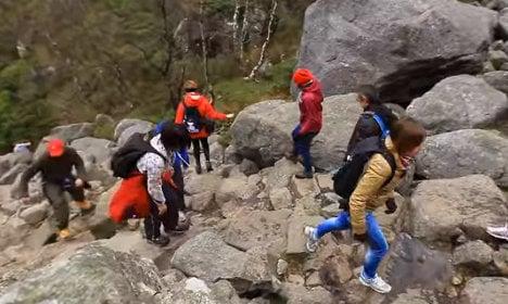 Nepal's Sherpas rebuild Norway mountain paths