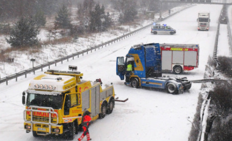 Wave of accidents hits drivers in north Germany