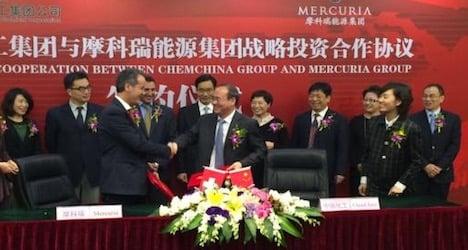 ChemChina buys into Swiss trader Mercuria