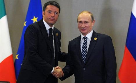 Renzi and Putin discuss Syria and energy deals