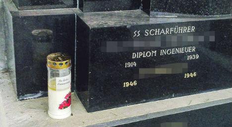 Outrage over Nazi runes on gravestone