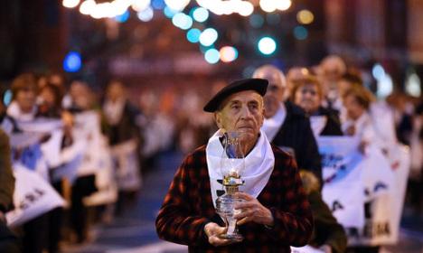 Thousands march in Bilbao for return of Eta prisoners