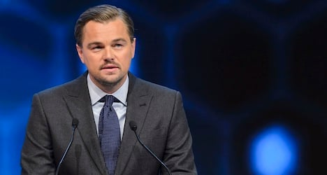 DiCaprio slams fossil-fuel industry at Davos