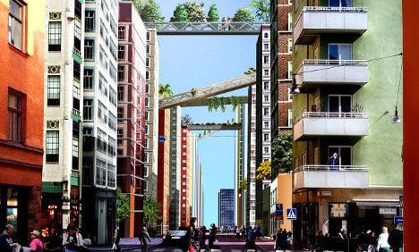 'Sky path' flats could transform Stockholm