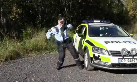 Norwegian cop dances like a boss to Rihanna