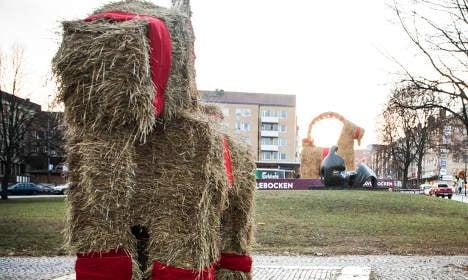 Now Gävle's little Yule goat is torched