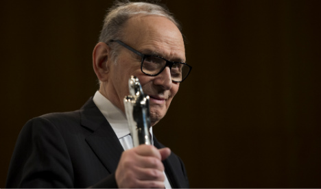 Morricone to receive Golden Globes statuette in Rome