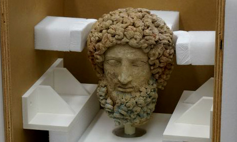 US museum gives Italy back looted head of Greek statue