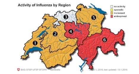 Influenza epidemic hits eastern Switzerland