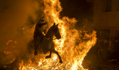 Hot to trot: Spain celebrates fiery festival to ward off evil