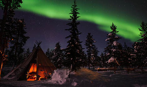 The best places to warm up in Sweden this week