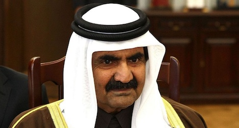 Qatar's ex-ruler back home after Swiss care