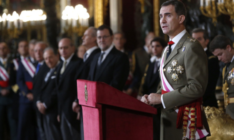 Spanish king exhorts military to stand up to terrorism