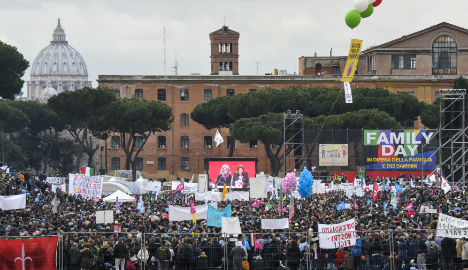 Poor turnout for Rome anti-gay union protest
