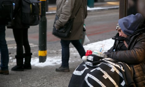 What's it like being homeless during Sweden's winter?