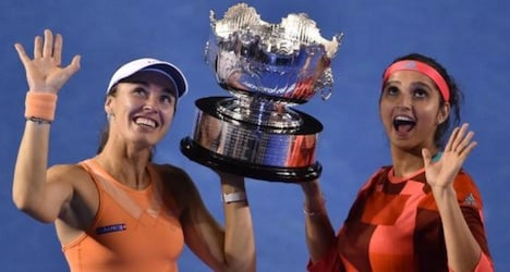 Hingis wins 12th Grand Slam with doubles win