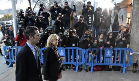 Spain's Princess Cristina arrives at court for landmark corruption case