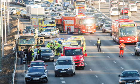 Girl, 4, and driver hurt in smash near Stockholm