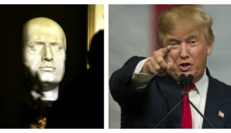 Trump sparks furore for tweeting Mussolini 'lion' quote
