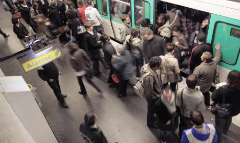 Panic as firecrackers thrown on Paris Metro carriage