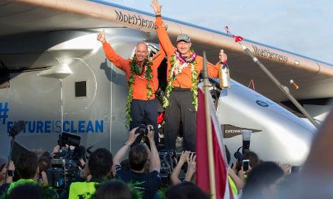 Solar Impulse plane makes first maintenance flight