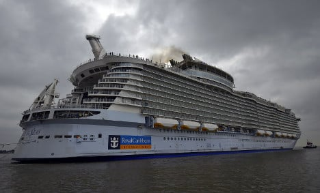 World's biggest cruise ship takes to the seas for first time