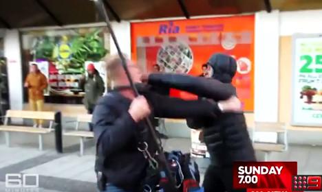 TV clip shows Aussie crew attacked in Sweden