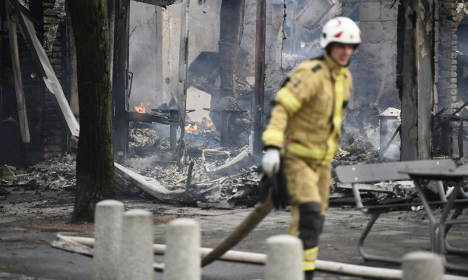 Restaurant burns to the ground in southern Sweden