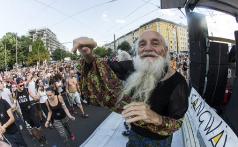 Berlin techno grandpa hopes to hit wildest party in USA