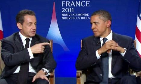 Obama scolds Sarkozy over Libya mission
