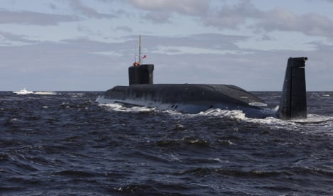 What were a Russian sub and bombers doing near France?