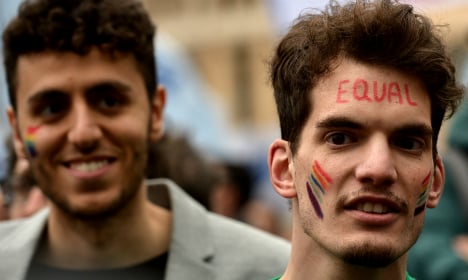 Italy gay rights activists rally for adoption rights
