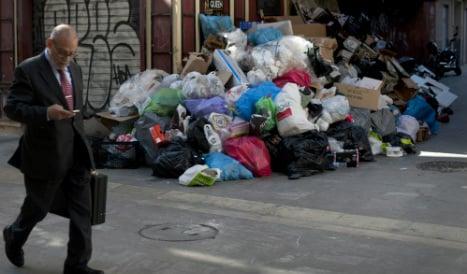 Costa del stink: Rubbish piles up in Malaga bin men strike